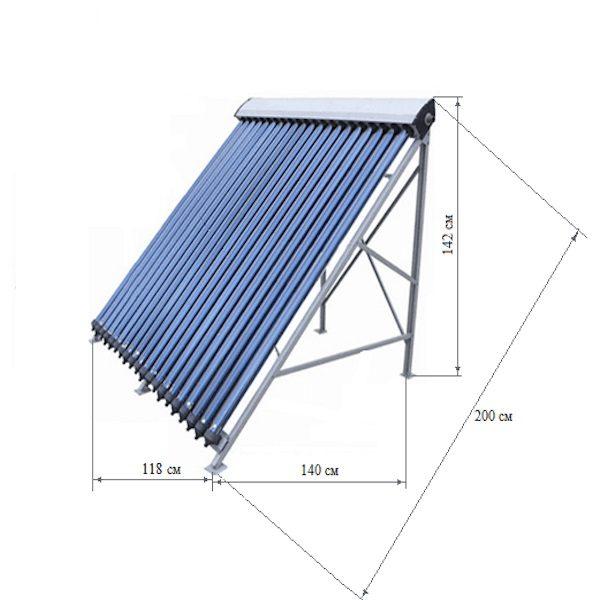 Солнечная водонагревательная панель